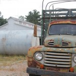 A rusty Ford truck – we're getting rural!