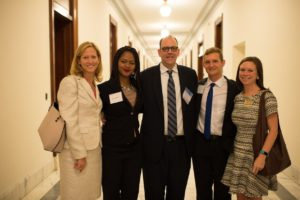 Me and Ericka with Emory's Government and Community Affairs employees (Cameron Taylor, far left and Emily Fisher, far right) and Dr. Donald Harvey from the Winship Cancer Institute, center
