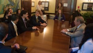 Me speaking with Senator Johnny Isakson